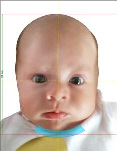 zdjęcie dowodowe dla noworodka