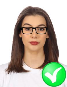 zdjęcie do dowodu jasne okulary